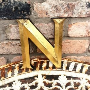 Large gold reclaimed shop letter (N)