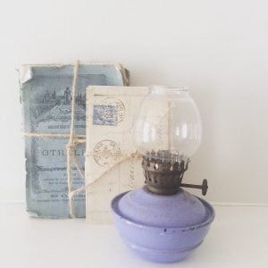 Gorgeous little lilac nursery oil lamp