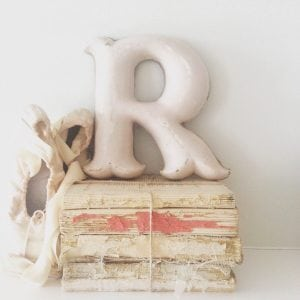 Stunning cast iron reclaimed letter - R