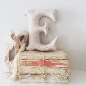 Stunning cast iron reclaimed letter - E