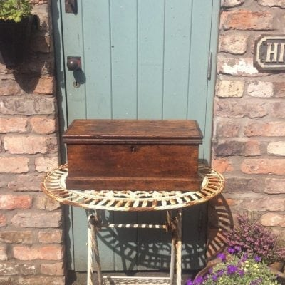 Charming little vintage wooden storage trunk